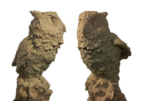 Finished owl sculpture by Erik Axebrink