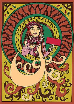 Stick  girl by Karen Elzinga