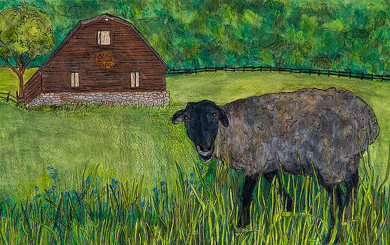 Fiona and Barn by Sandee Johnson
