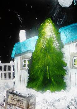 Fir Tree In The Yard by Marie Bulger