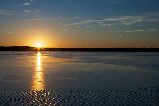 Fire and Ice - sunset on an icy lake by Jane Eleanor Nicholas