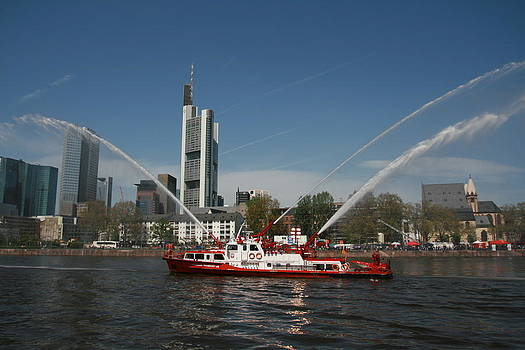 Fire And Rescue Boat by Laurie Cournia