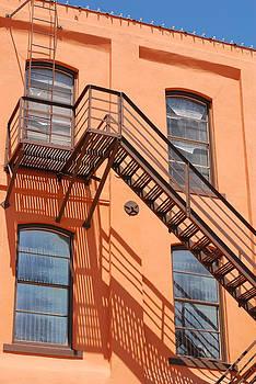 Connie Fox - Fire Escape on Orange Vintage Building