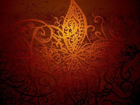 Fire Gold Scrolls by Kurler Warner