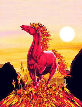Fire Horse by BluedarkArt Lem