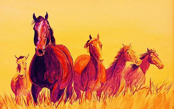 Fire Horses by Cynthia Sampson