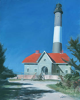 Fire Island Lighthouse by Edward Coster