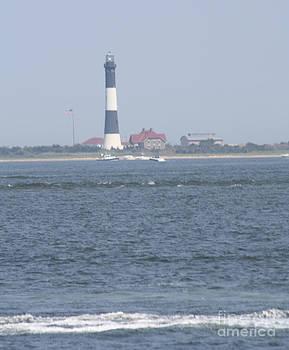 JOHN TELFER - Fire Island Lighthouse Vertical Shot With Signal Light Caught #2 of 4
