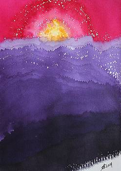 Fire on the Mountain original painting by Sol Luckman