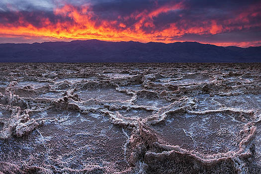 Fire over Death Valley by Andrew Soundarajan
