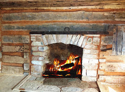 Fire Place by Larry Stolle