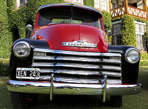 Venetia Featherstone-Witty - Fire Red Chevy Pick-Up Truck