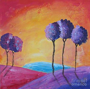 Fire Sky Trees by Susan Wahlfeldt