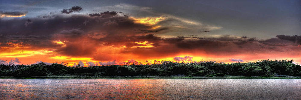 Fire Storm Sunset by Ed Roberts