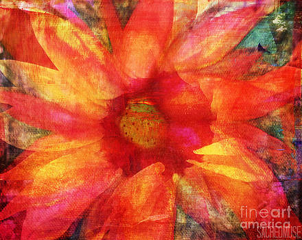 Fire Sunflower by Sacred  Muse