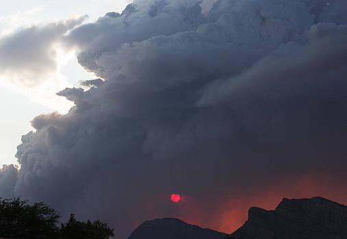 Fire Sunset Below by Dennis Galloway