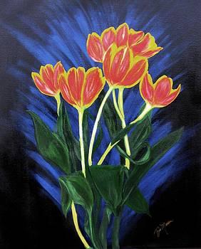 Fire Tulips by Bill Manson