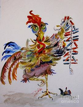 FireCracker Rooster by Delilah  Smith