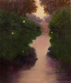 Fireflies on the Lake by Mary Phelps