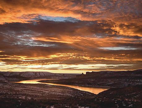 Firehole Sunset by David Halter
