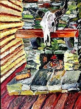 Fireplace by Vladimir A Shvartsman