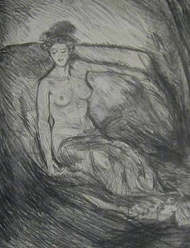 Fireside Figure study by Kerrie B Wrye