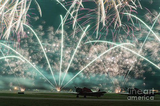 Fireworks and aircraft by Paul Quinn