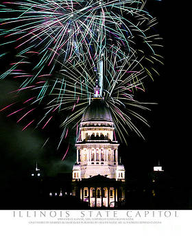 Kimberly Blom-Roemer - Fireworks at Illinois State Capital Springfield