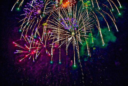 Fireworks at Weatherby by Larry Bodinson