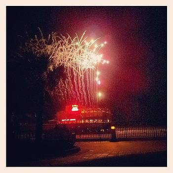 #fireworks #beach #summer #bikeride by Mandy Shupp