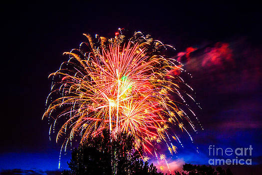 Fireworks Eugene Oregon by Michael Cross