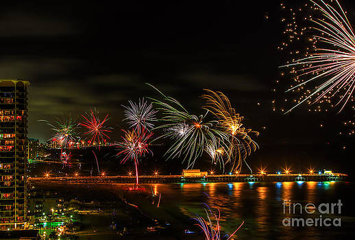 Fireworks Over the Grand Strand by Mark East