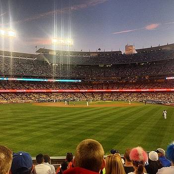 First Ball Game Of The Year. #dodgers by Ben Tesler