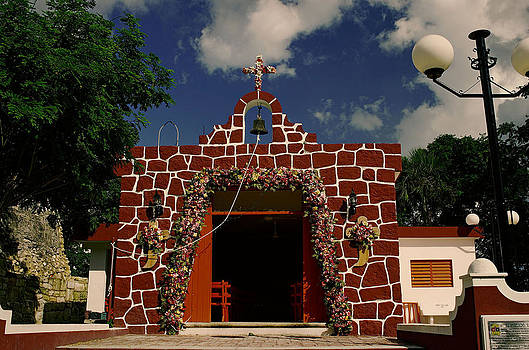 First Catholic Church  Cozumel by Gerald Salamone