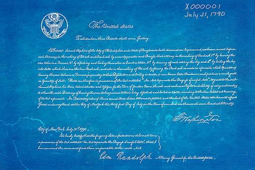 Ian Monk - First Ever US Patent for Potash Patent Art 1790 Blueprint