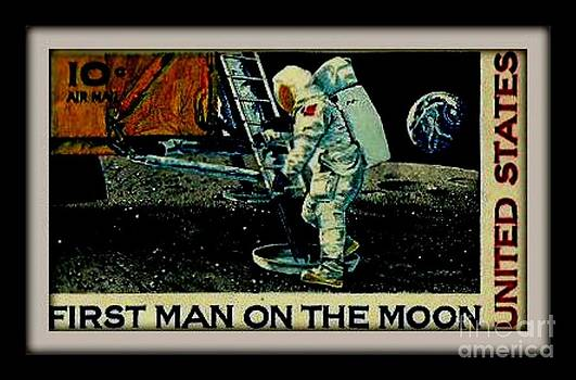 Gail Matthews - First Man on Moon Postage Stamp United States