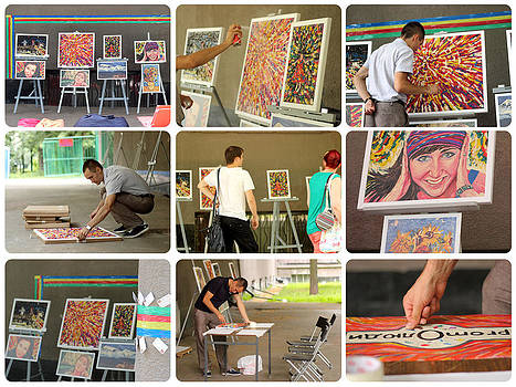 First mini exhibition by Marat Zakirov