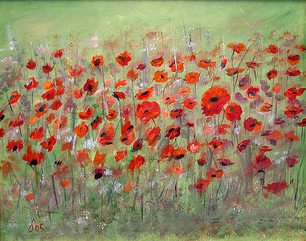 First Poppies by Dorothy Maier