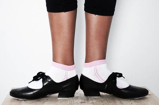 Pedro Cardona Llambias - first position in tap dance shoes at school