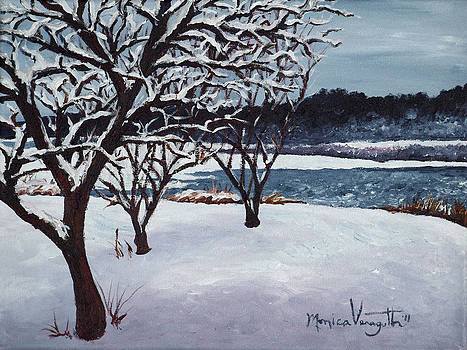 First Snow at Lake Winona by Monica Veraguth