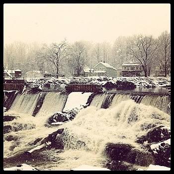 First Snowfall At The Falls by Derek Peplau