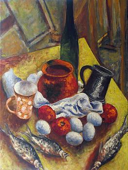 Fish and eggs by Vladimir Kezerashvili