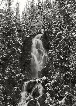 Fish Creek Falls in Black and White by Bob Bailey