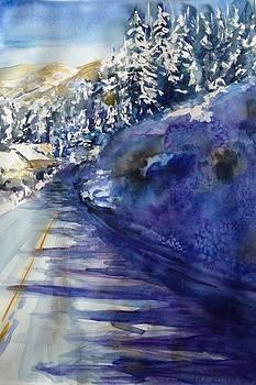 Fish Creek Falls Rd Jan 13 by Karen Lindeman