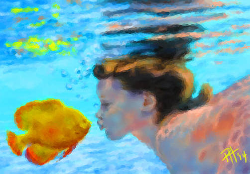 Fish Kiss by Peggy Hickey