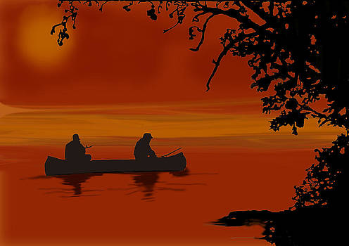 Fish on the Water Until Last Light by Chris Goulette
