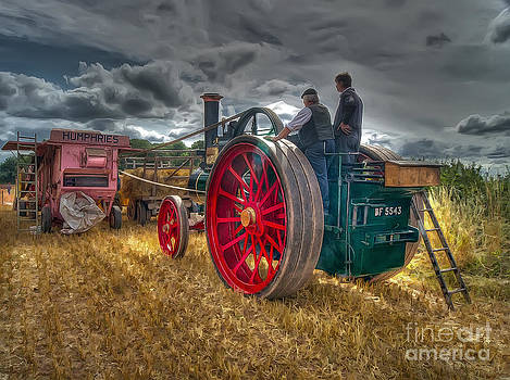 Fisher Humphries Threshing machine by J A Evans