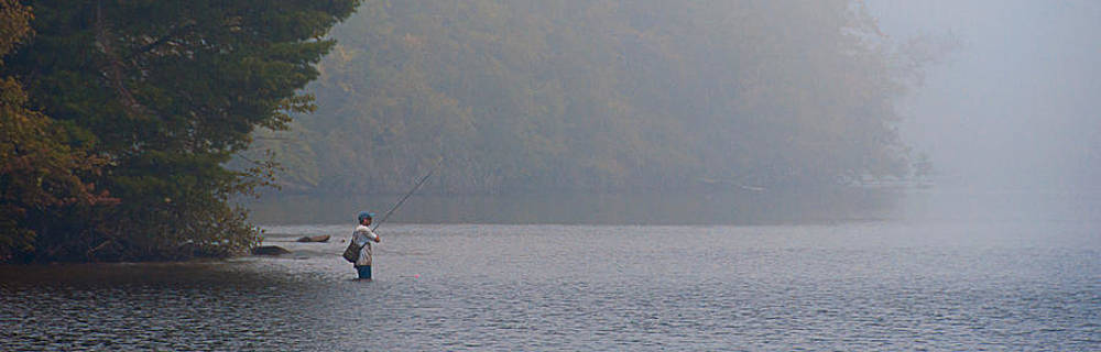 Fisherman at Dawn by Sandy Scharmer