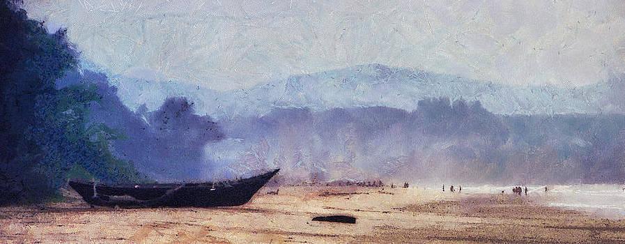 Jenny Rainbow - Fisherman Boat on the Goan Coast. India