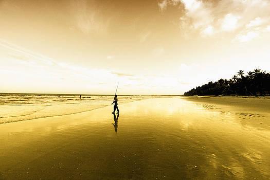 Fisherman On Mayaro Beach by Dexter Browne